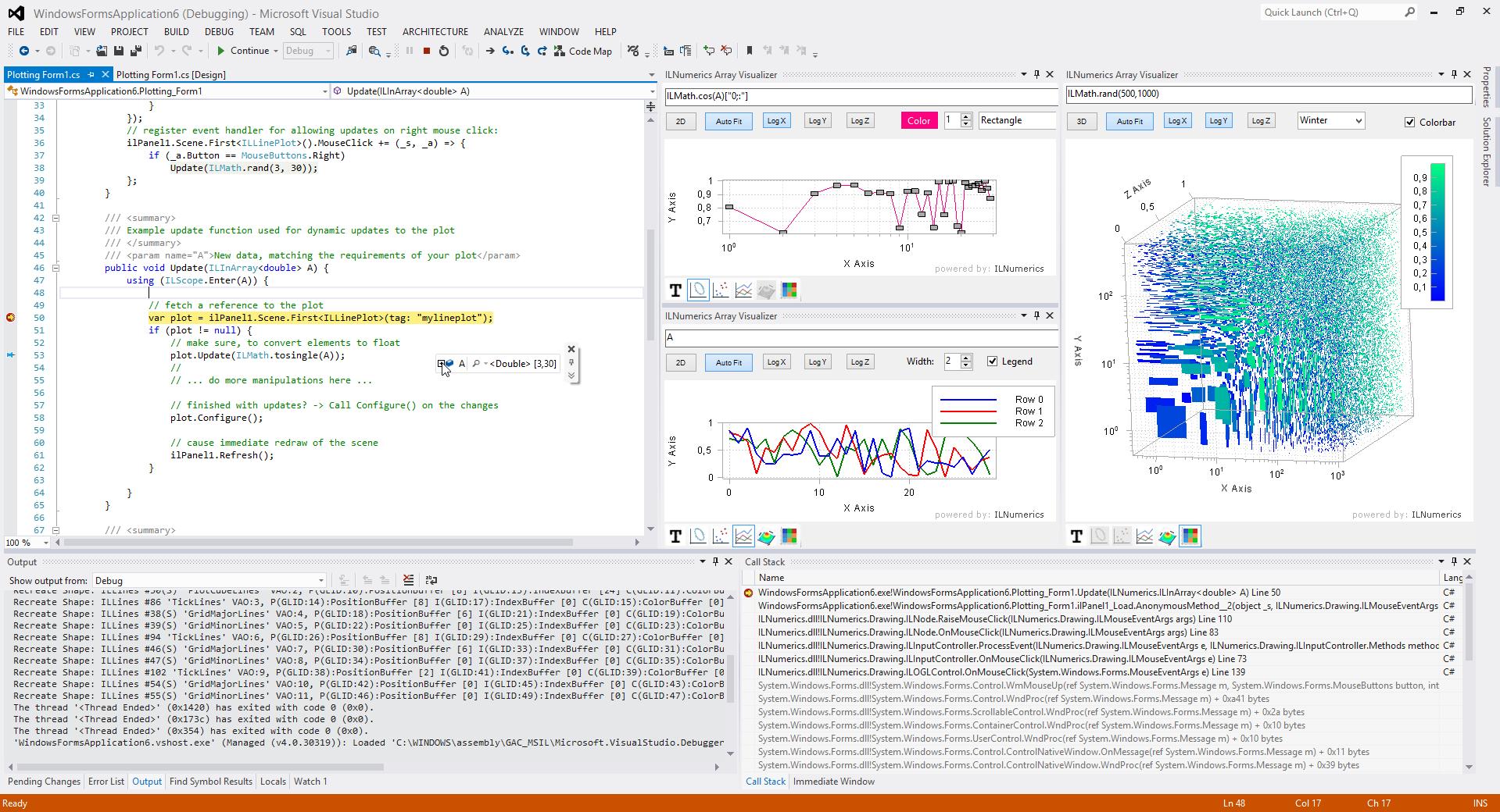 ILNumerics Ultimate VS extends Visual Studio with unique debugging tools